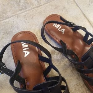 MIA Shoes - NEW MIA Black Gladiator Ankle Strap NWT Sandals